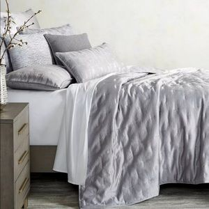 Hotel Collection Gray FULL/QUEEN Coverlet NEW